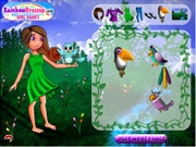 Devojka i pticice